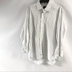 David Donahue Dress Shirt Size 17 34/35 White